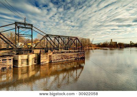 Old Swinging Train Bridge