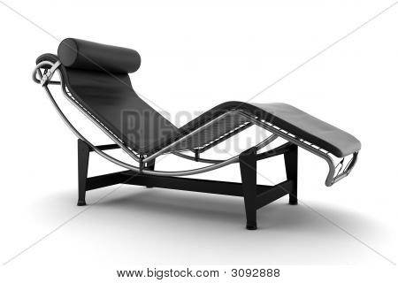Black Couch Isolated On White Background