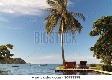 Swimming Pool Facing The The Sea