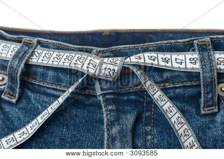 Waist Check And Excess Weight Control Concept