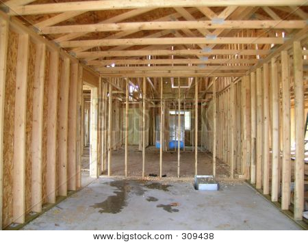 Construction - Framed Garage