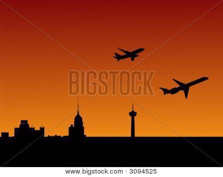 Planes Departing San Antonio