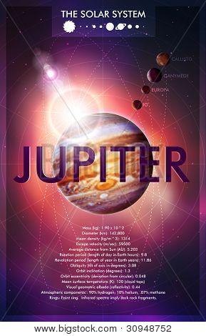 Vector Planet Jupiter Design