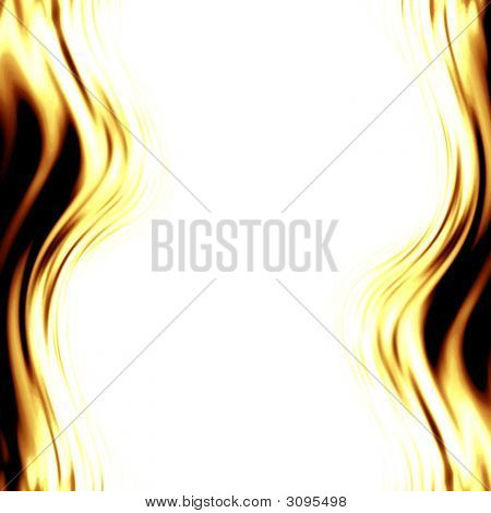 Abstract Yellow Flames
