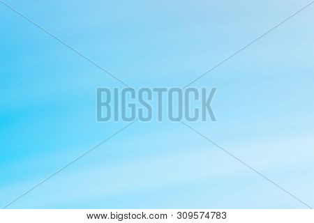 poster of Abstract Blue And White Gradient Background. Blurry Defocused Natural Backdrop With Bokeh Lights. So