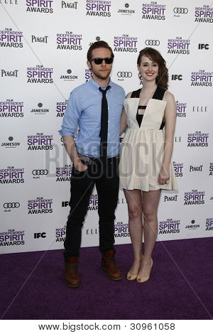 SANTA MONICA, CA - FEB 25: Joslyn Jensen; Mark Jackson at the 2012 Film Independent Spirit Awards on February 25, 2012 in Santa Monica, California