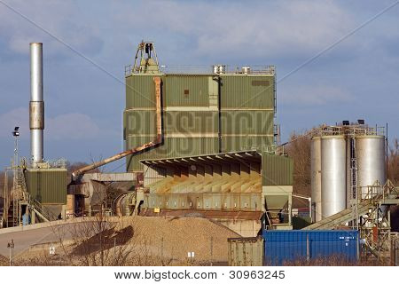 Quarry gravel sorting area