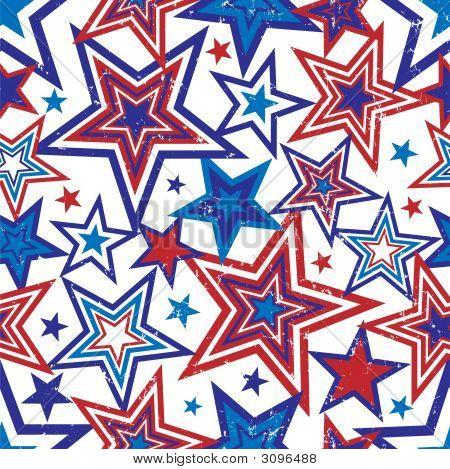 Patriotic Stars Illustration