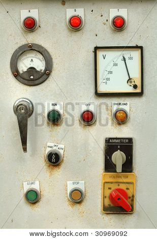 this is an old control panel in factory