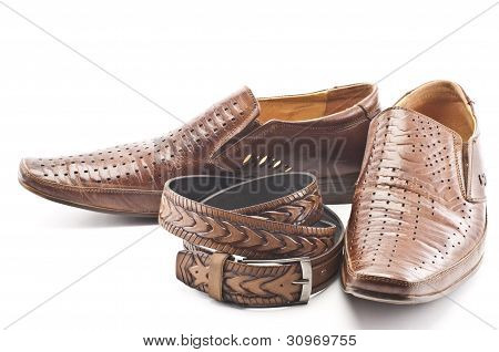 Men's Shoes And Men's Belt