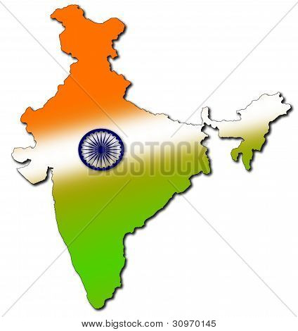 india in tricolour