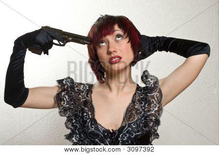 Mädchen mit Pistole
