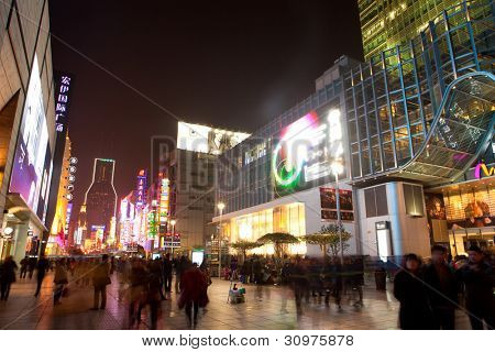 SHANGHAI - MAR. 10:  Nanjing Road in the weekend in Shanghai, Mar. 10, 2012. Nanjing Road is the main shopping street of Shanghai, China, and is one of the world's busiest shopping streets.