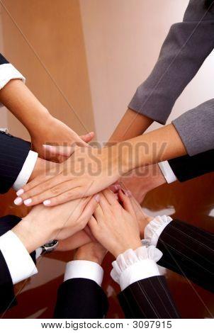 Business Office Team Work