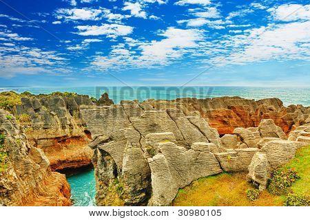 Punakaki Pancake Rocks in Paparoa National Park