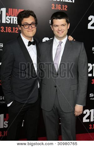 LOS ANGELES - MAR 13:  Phil Lord, Chris Miller arrives at the