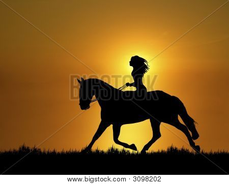 Sunset Horse Ride