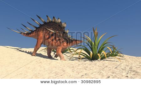 kentrosaurus in desert