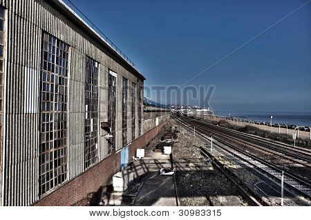 Train Track Line Warehouse Industry
