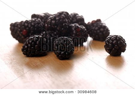 Pile of fresh dewberries