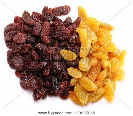 Close up of  colorful raisins