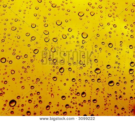Yellow Rain Drops