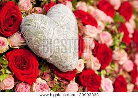 Still life - flowers and heart