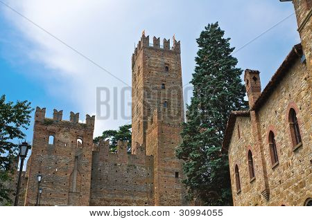 Visconti Castle. Castell'Arquato. Emilia-Romagna. Italy.