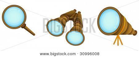 illustration of binocular on a white background