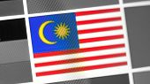 Malaysia National Flag Of Country. Malaysia Flag On The Display, A Digital Moire Effect. News Of Geo poster