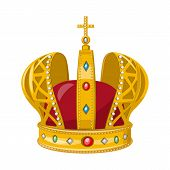 Vector Design Of Monarchy And Gold Sign. Collection Of Monarchy And Heraldic Stock Vector Illustrati poster