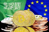 Concept For Investors In Cryptocurrency And Blockchain Technology In The Saudi Arabia And European U poster