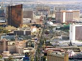 stock photo of las vegas casino  - Las Vegas Strip in the daytime - JPG
