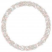 Round Celtic Knots Frame. Traditional Medieval Frame Pattern Illustration. Scandinavian Or Celtic Or poster