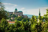 Budapest, Hungary: View Of Buda Castle, The Historic Royal Palace In Budapest. Historical Castle And poster