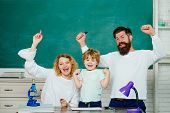 Family School Partnerships Examples. Mother Father And Son Together Schooling. Family School. Parent poster