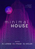 Dance Flyer. Trendy Discotheque Banner Design. Dynamic Gradient Shape And Line. Neon Dance Flyer. El poster