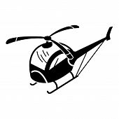 Toy Helicopter Icon. Simple Illustration Of Toy Helicopter Vector Icon For Web Design Isolated On Wh poster