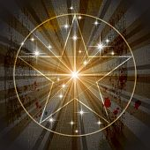 stock photo of pentacle  - The Ancient Medieval Mystic Pentagram  - JPG