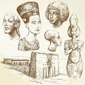 Постер, плакат: Египет коллекция рисованной