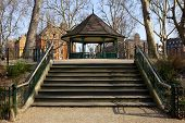 foto of hackney  - Steps leading to the bandstand in Arnold Circus - JPG