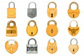Padlock Lock For Safety And Security Protection With Locked Secure Mechanism To Interlock Or Lockout poster