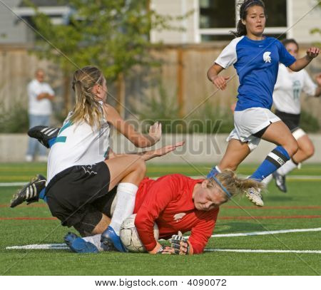 Girls Varsity Soccer Collision
