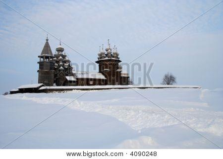 Wooden Famous Russian Museum Kizhi