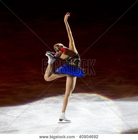 MILAN - DEC 18: Carolina Kostner during the Italian Championship in the Forum Arena, on December, 20