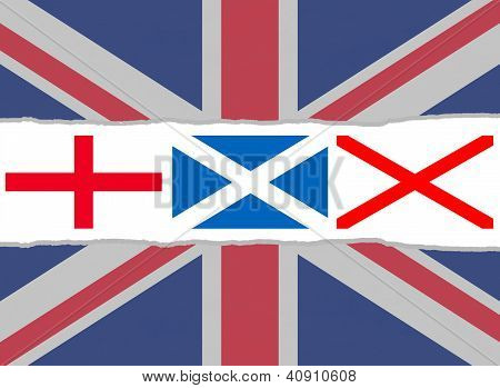 Union Jack Flag From The Flags Of England, Scotland And Ireland