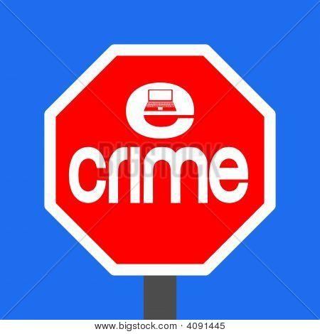 Stop E-Crime Sign