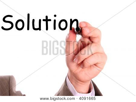 Hand And Solution Word