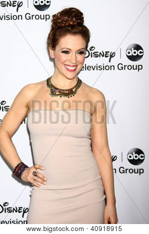 LOS ANGELES - JAN 10:  Alyssa Milano attends the ABC TCA Winter 2013 Party at Langham Huntington Hotel on January 10, 2013 in Pasadena, CA