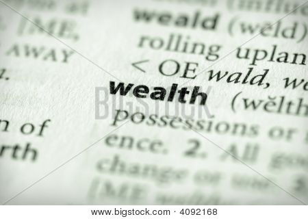 Dictionary Series - Economics: Wealth